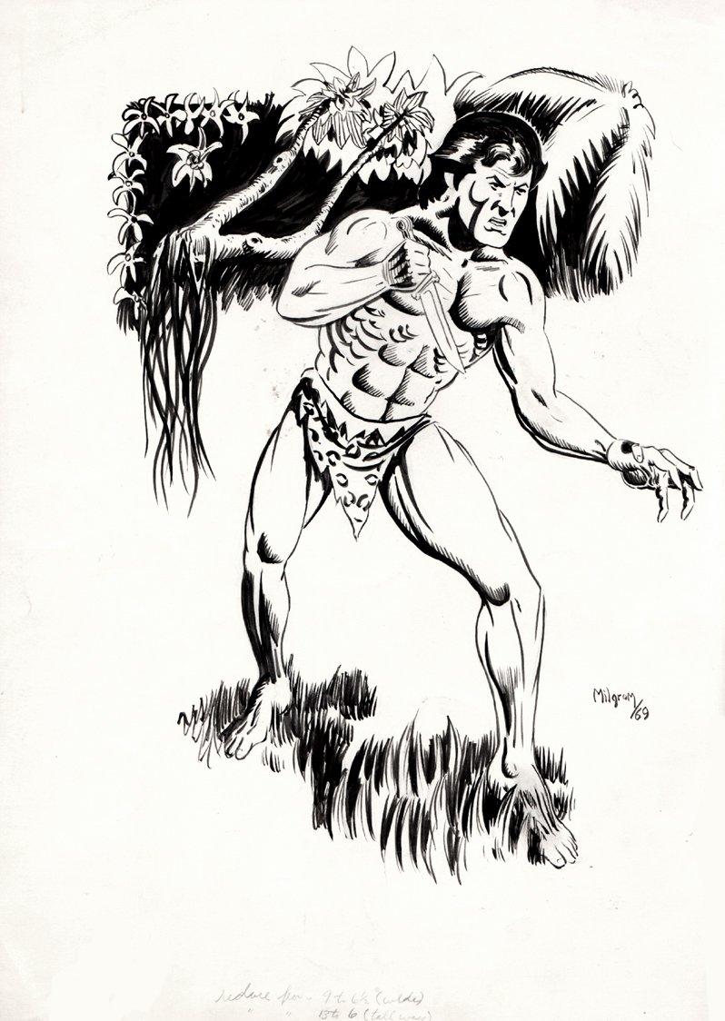 Collector's Showcase Tarzan Fanzine Cover (1969)