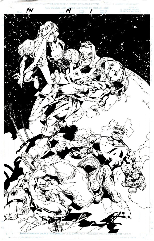 Fantastic Four #14 p 1 SPLASH (Fantastic Four Battles Ronan!) 1998