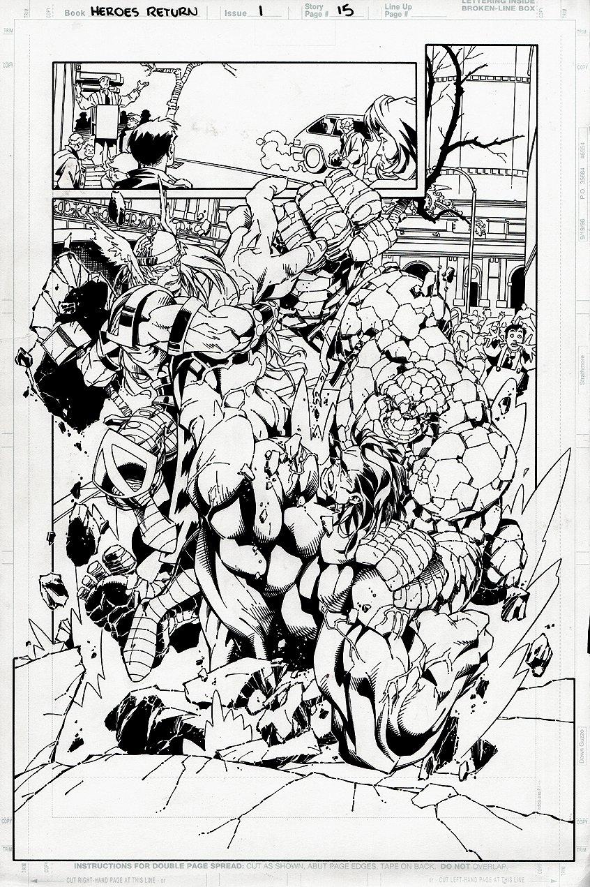 Heroes Reborn: The Return #1 p 15 SPLASH (1997)