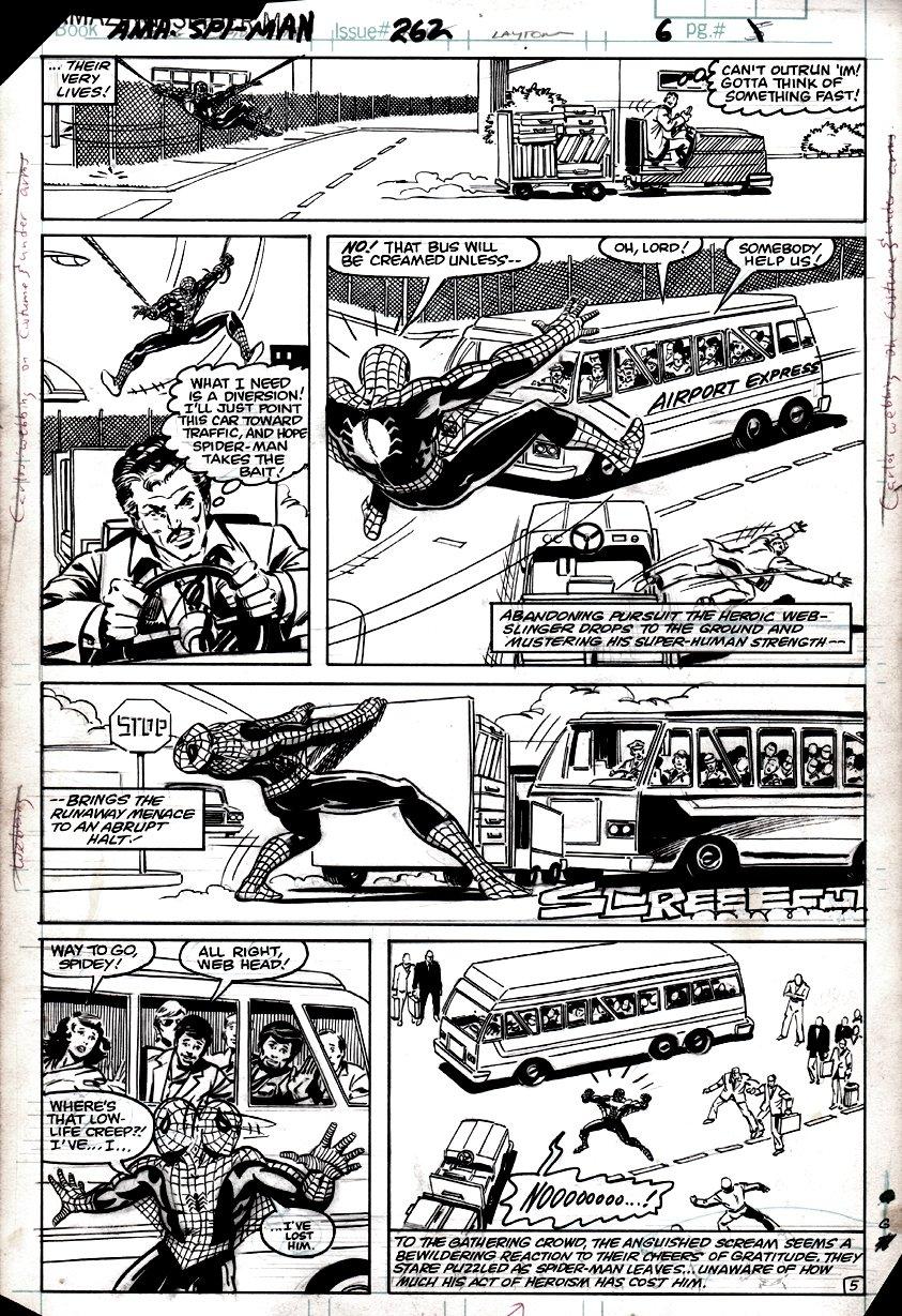 Amazing Spider-Man #262 p 5 (SPIDER-MAN IN 6 OF 6 BATTLE PANELS!) 1984