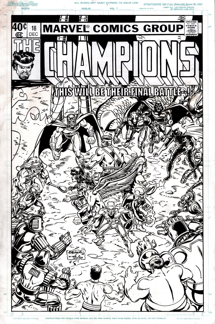 Champions #18 Unpublished Cover Homage to Art Adams: Classic X-Men #14 Cover (2005)