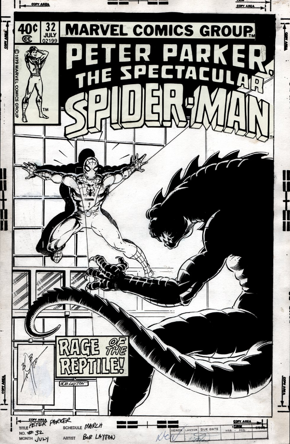 Spectacular Spider-Man #32 Cover (1979)