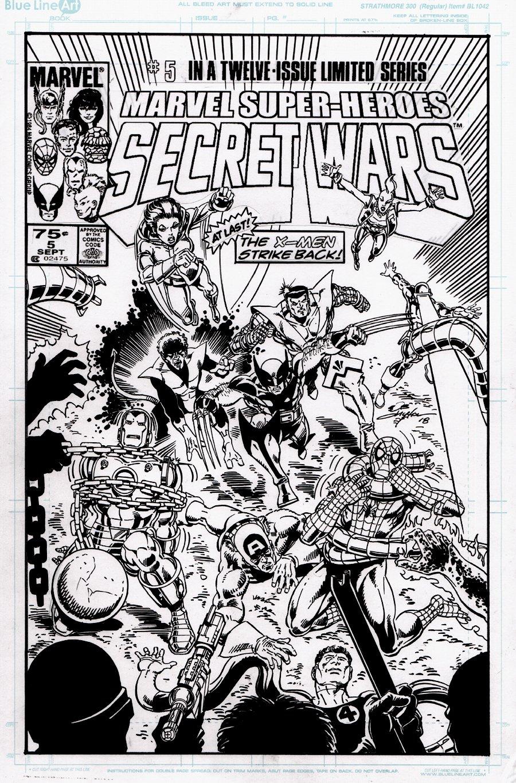 Marvel Super-Heroes Secret Wars #5 Cover Recreation