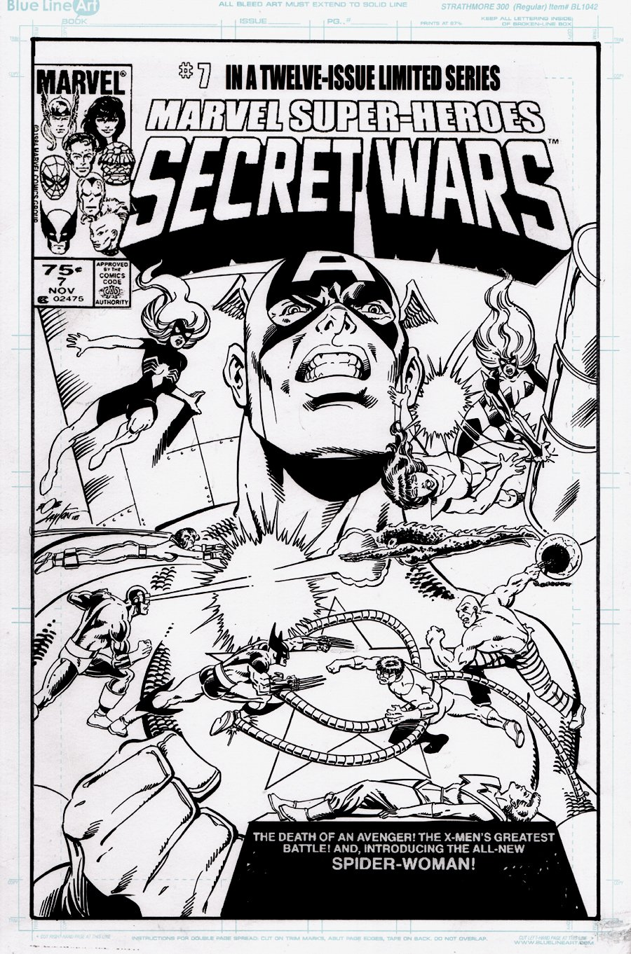 Marvel Super-Heroes Secret Wars #7 Cover Recreation