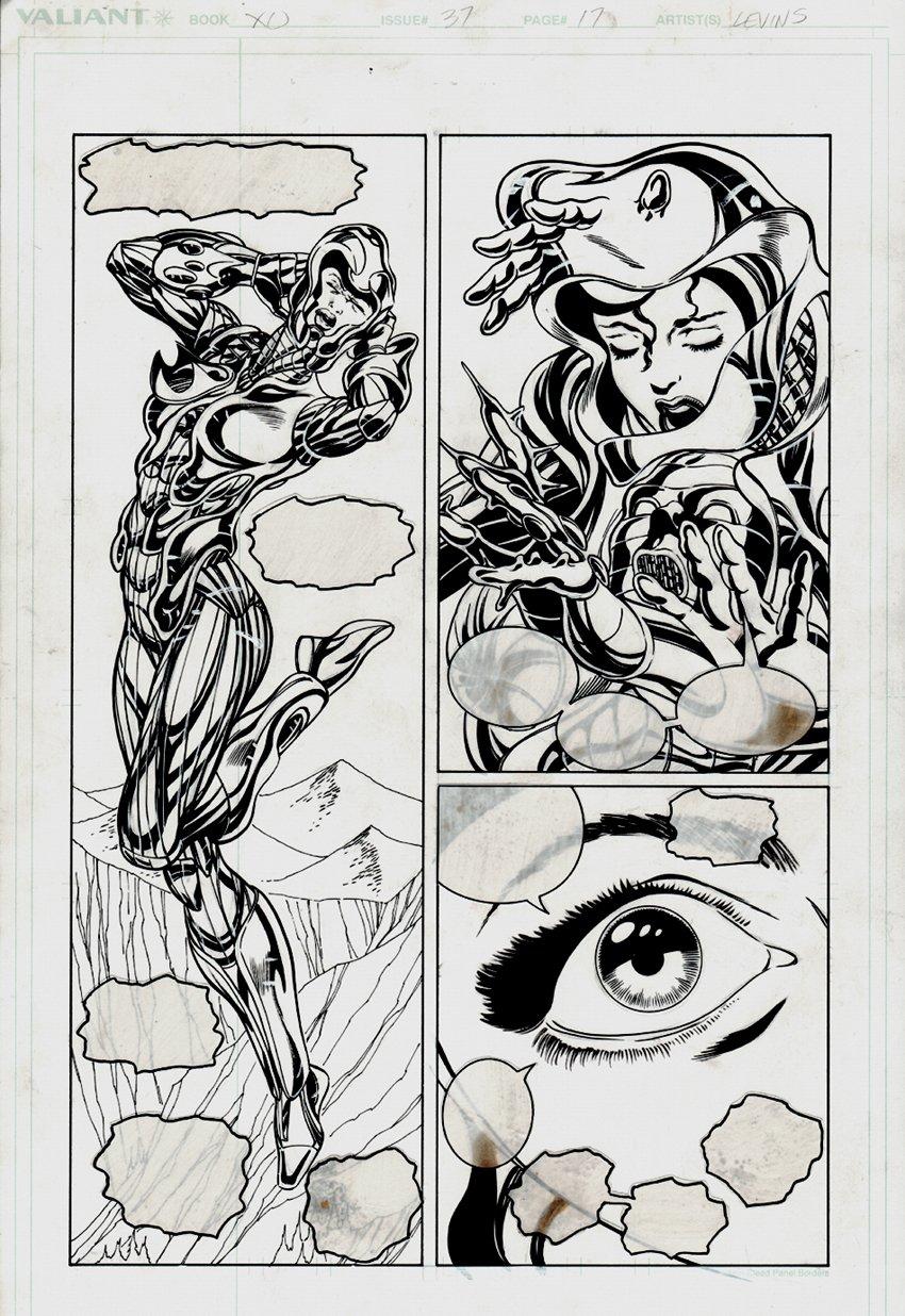X-O Manowar #37 p 17, 1/2 splash (1995)