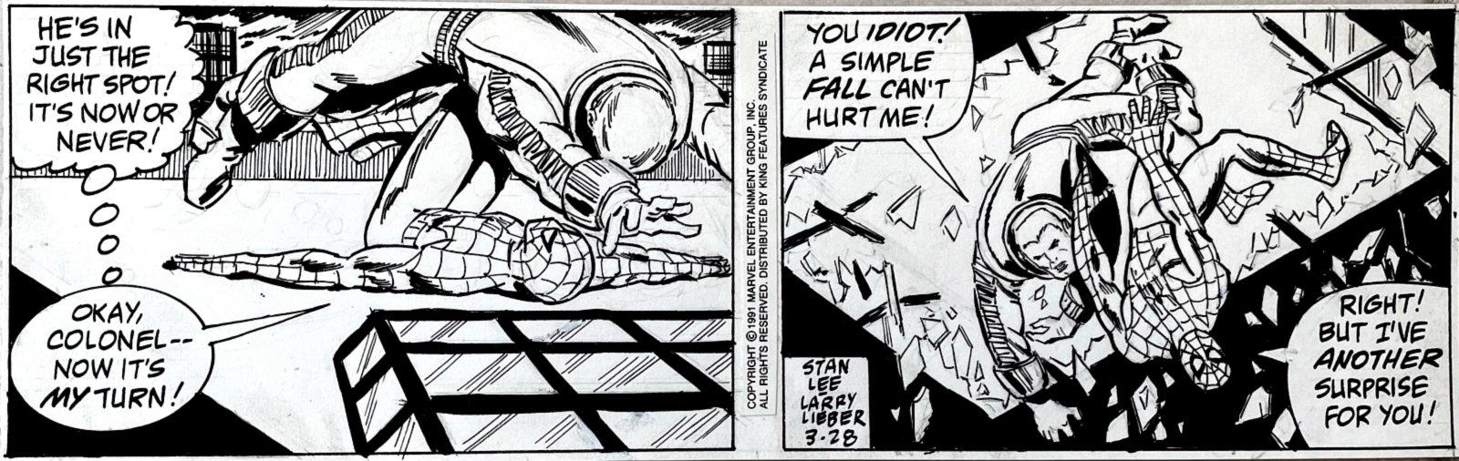 Strip (SPIDEY'S BATTLES SUPER POWERED JOHN JAMESON) 3-28-1991