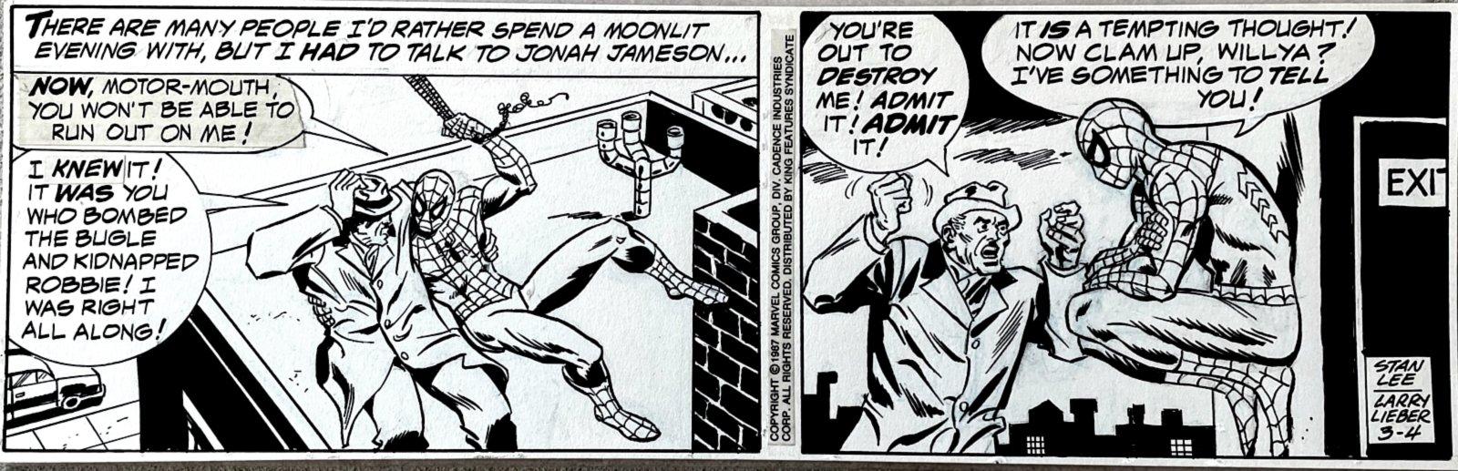 Amazing Spider-Man Daily Strip (ALL SPIDEY & JJJ) 3-4-1987