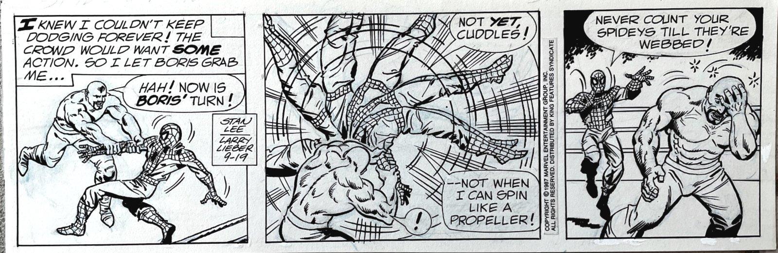 Strip (SPIDEY'S FIRST BATTLE AS HIS ORIGIN IS RETOLD!) 9-19-1987