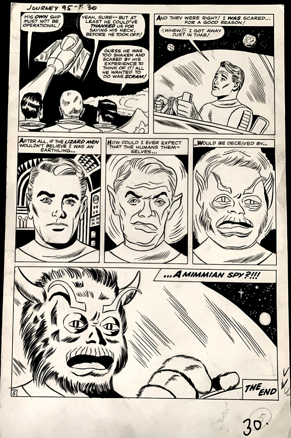 Journey into Mystery #95 Last Page ( Large Art- 1963