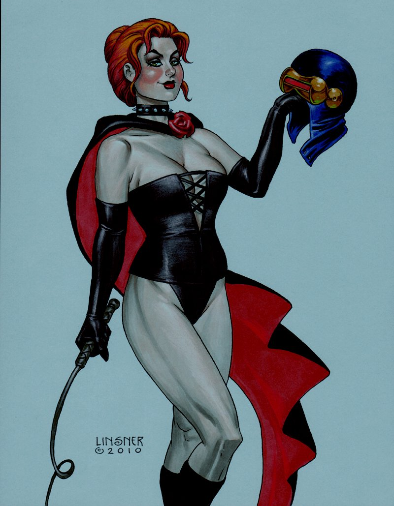 Jean Grey As Black Queen Mixed Media Pinup (2010)