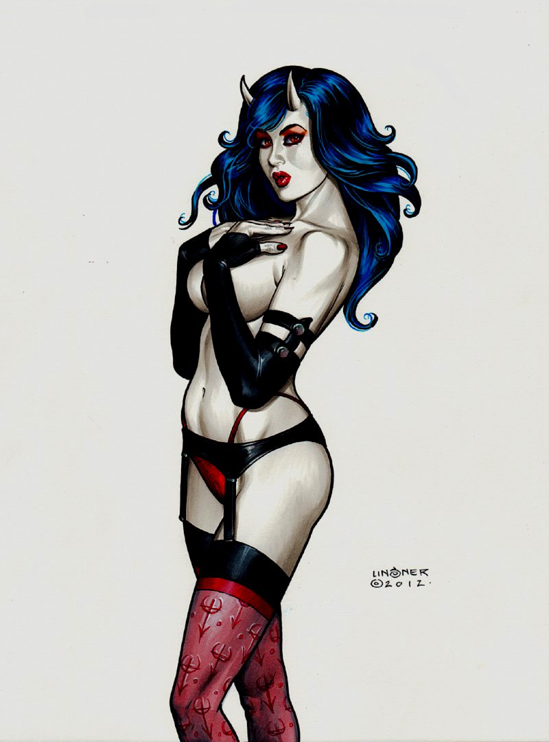 Sinful Suzi Published Color Pinup