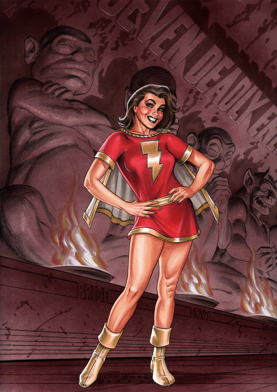 Mary Marvel and The Seven Deadly Enemies of Man Pinup (2000)