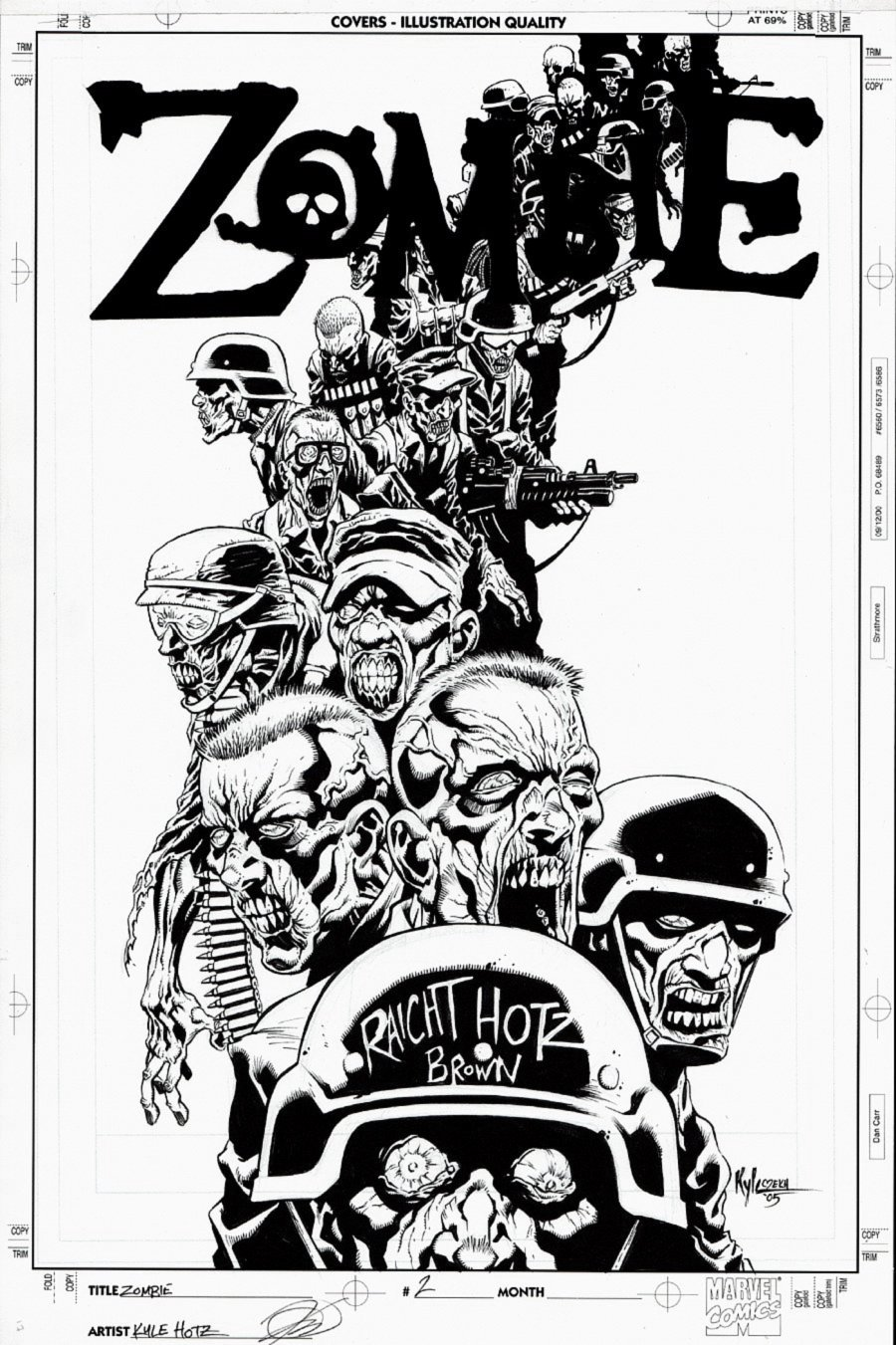 Zombie #1 Cover (PRE-WALKING DEAD FIRST ISSUE COVER!) 2005