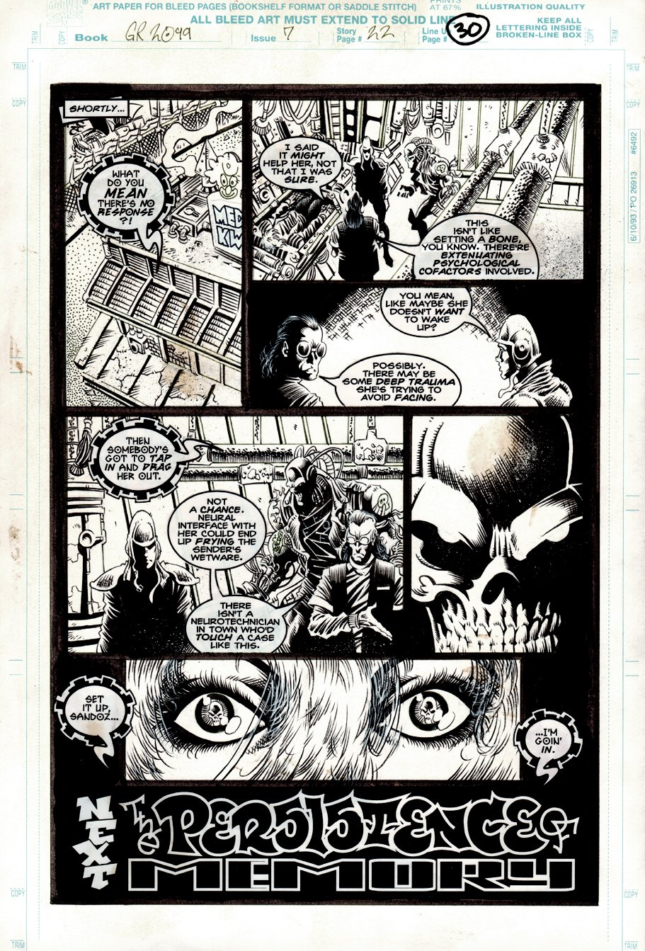 Ghost Rider 2099 #7 p 22 LAST PAGE (1994)
