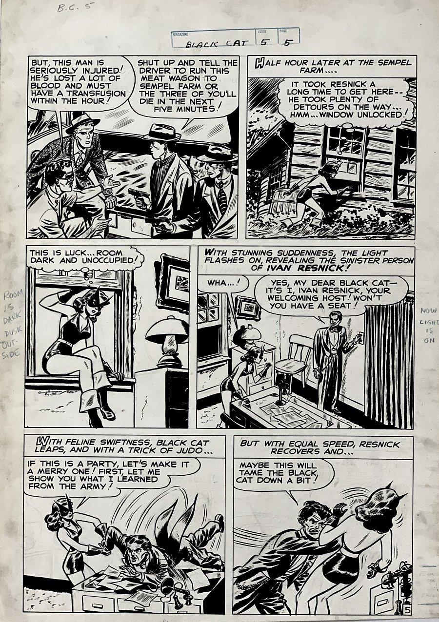 Black Cat Comics #5 p 5 (Large Art) 1947