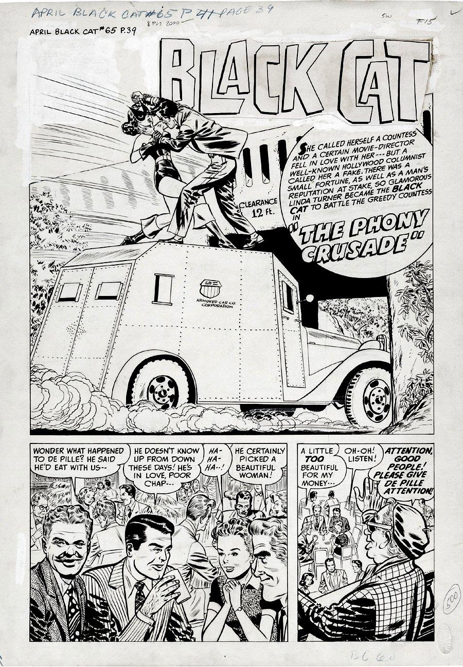 Black Cat #22 p 1 SPLASH (1949)
