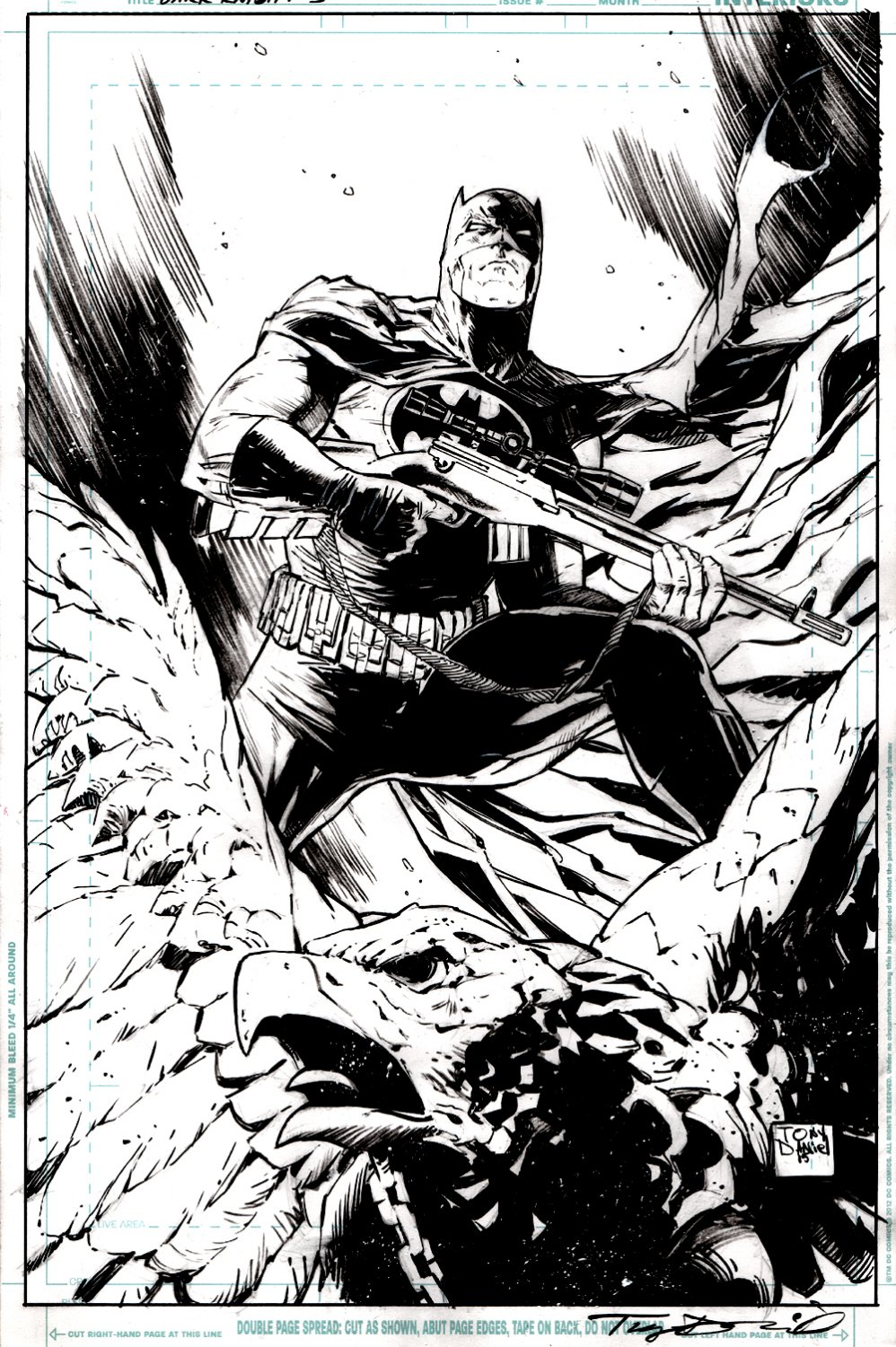 Dark Knight III: The Master Race #1 Cover (FIRST ISSUE, USED FOR 2 COVERS!) 2015)