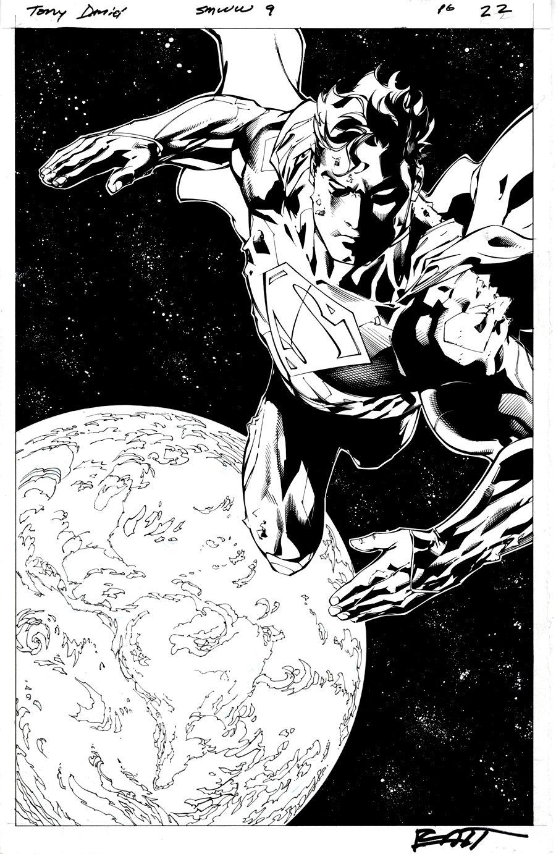 Superman / Wonder Woman #9 p 22 SPLASH (SUPERMAN FLYING IN OUTER SPACE!) 2014
