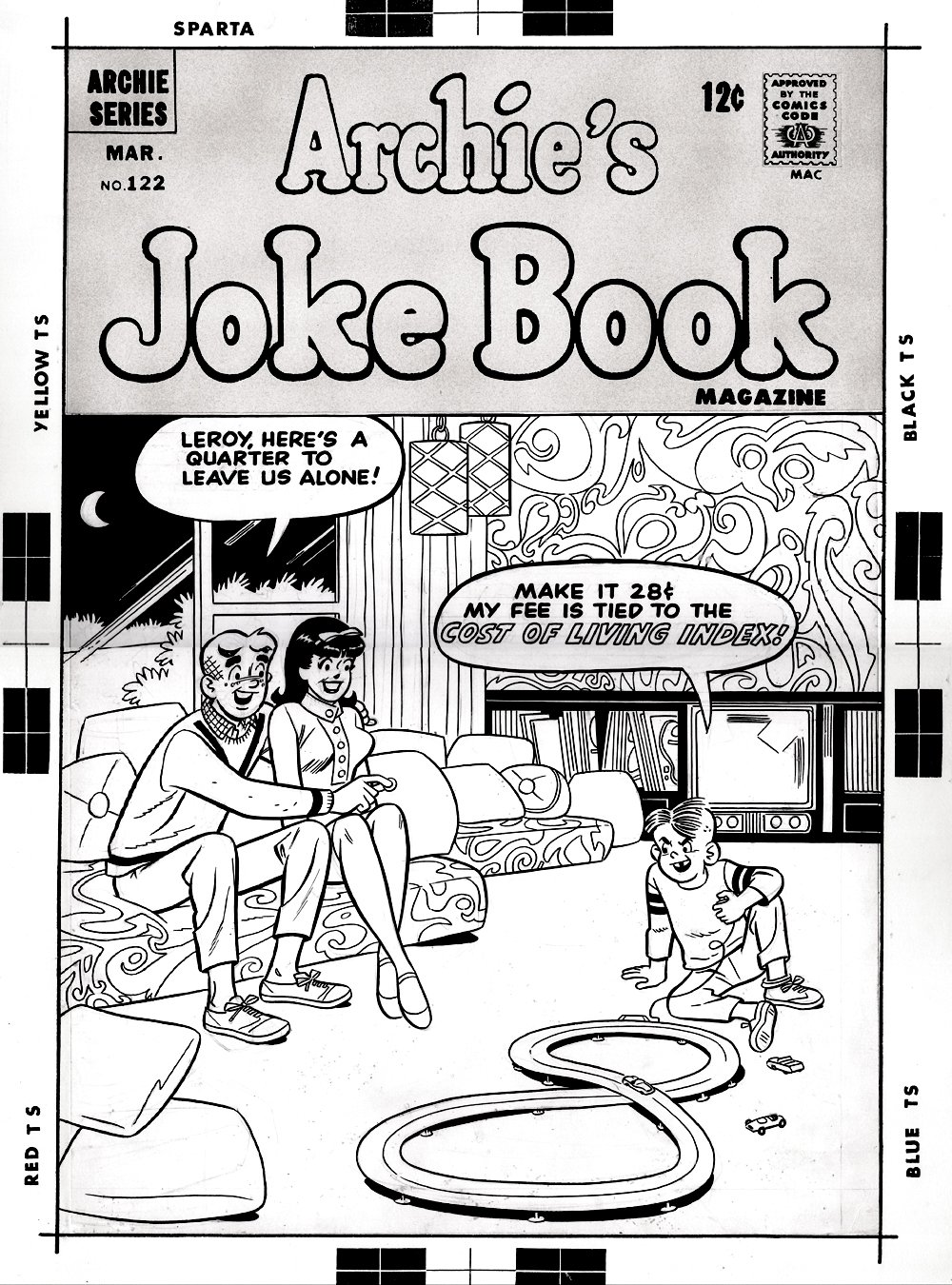 Archie's Joke Book Magazine #122 Cover (LARGE SILVER AGE COVER) 1967