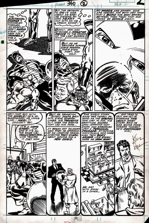 Captain America #340 p 2 (Captain America, Iron Man, Tony Stark!) 1987