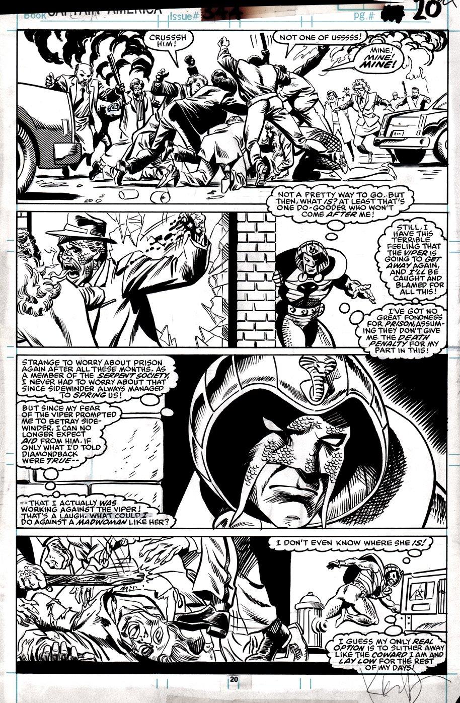 Captain America #344 p 20 (Cobra!) 1988