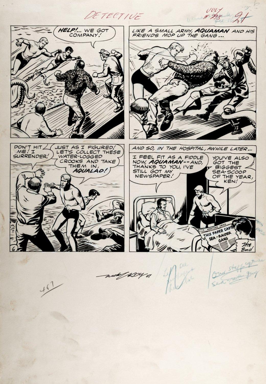 Detective Comics #293 p 6 (PRE-AQUAMAN #1 BATTLE PAGE!) Large Art - 1961