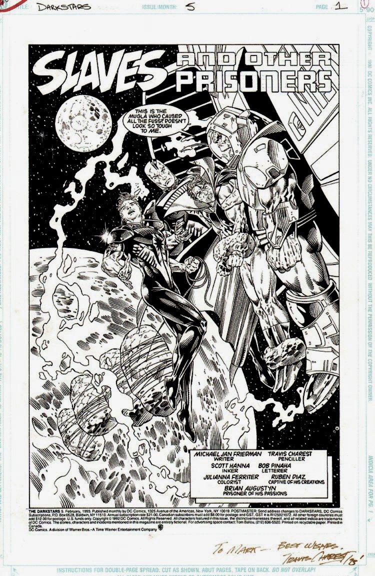 Darkstars #5 p 1 SPLASH (TRAVIS CHAREST SPLASH!) 1993