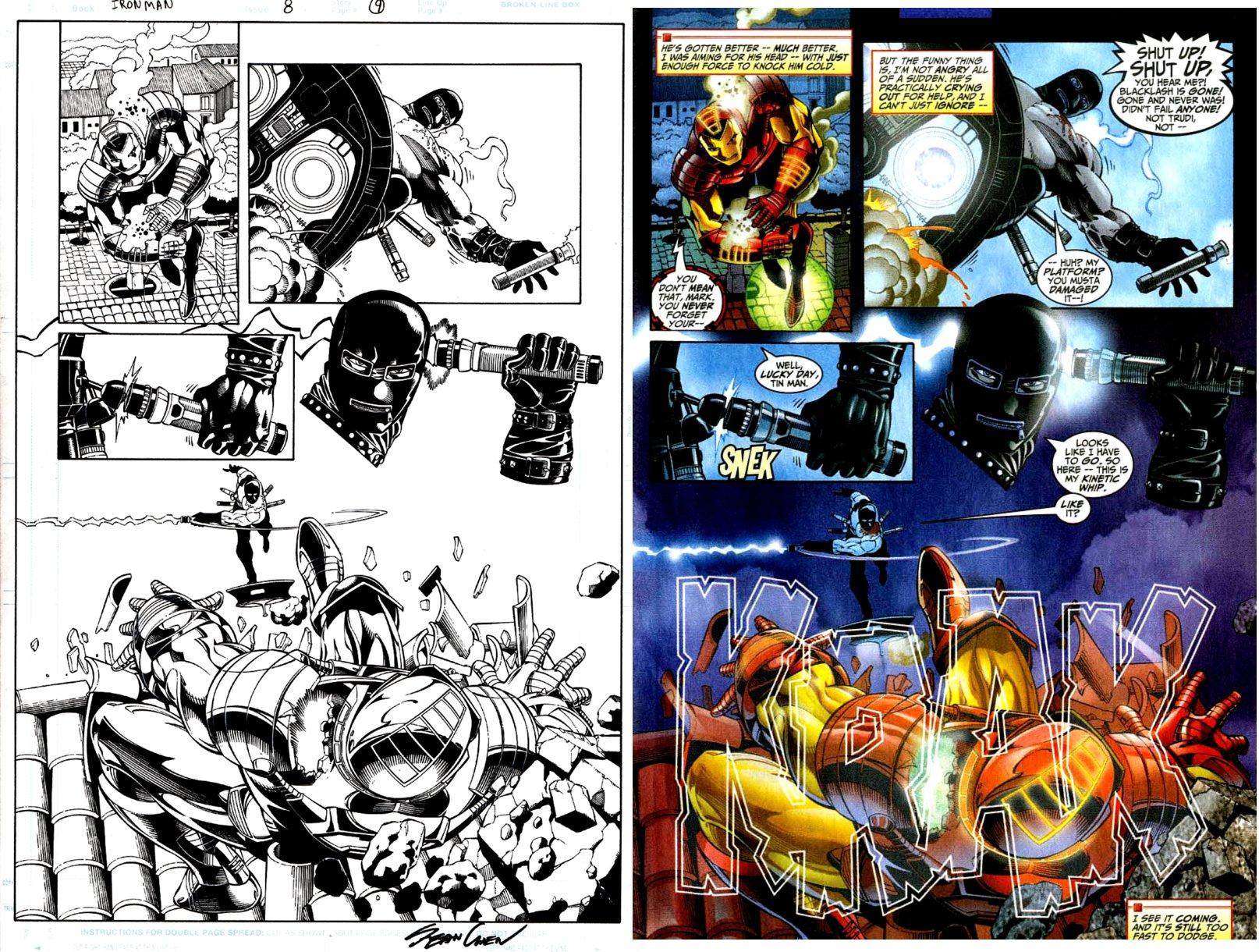 Iron Man 8 Pg. 9 Semi-Splash - IRON MAN BATTLES WHIPLASH (BILL-LASH!) 1998)