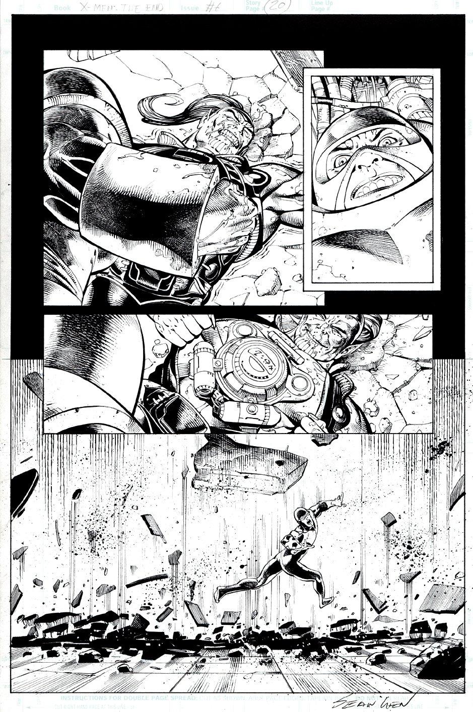 X-Men: The End #6 p 20 Semi-Splash (2006)