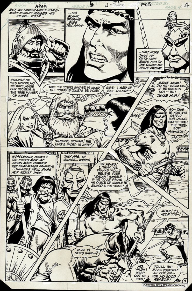 Arak / Son of Thunder #6 p 4 (ARAK Throughout!) 1981