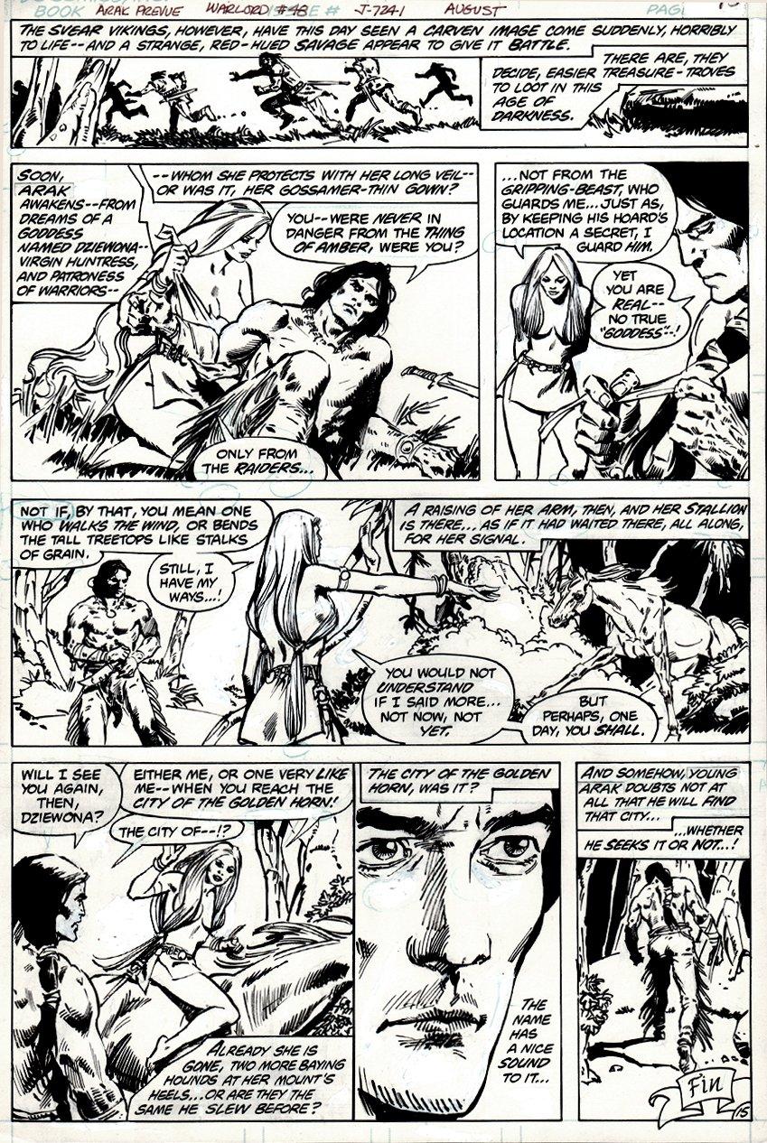 Warlord #48 p 15 (VERY FIRST ARAK APPERARANCE!) 1981