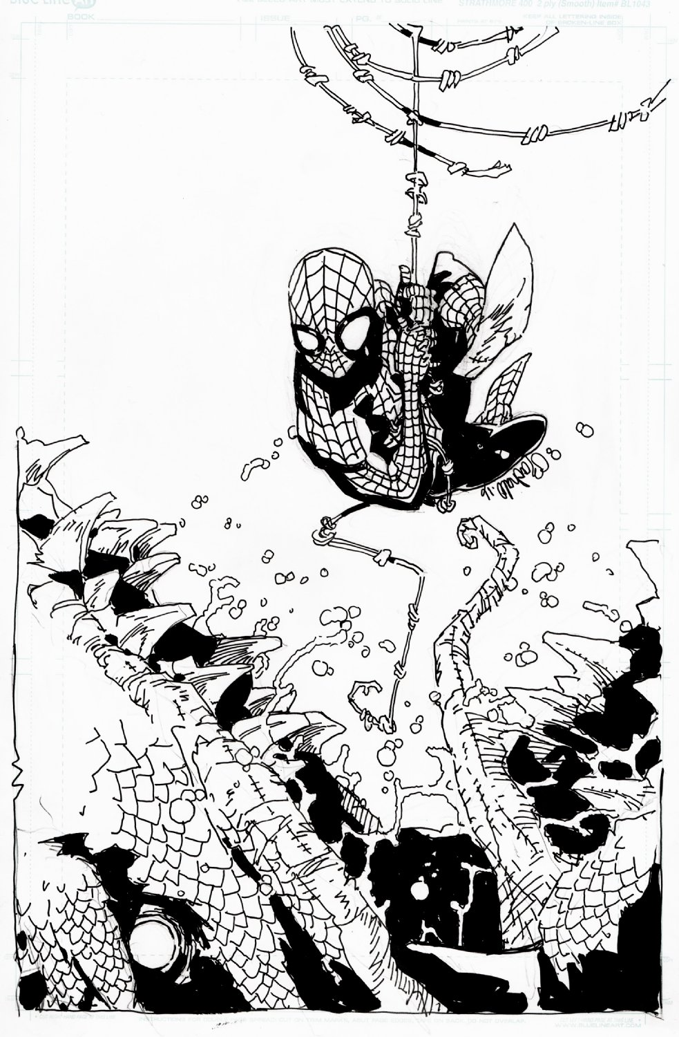 Spider-Man vs. The Lizard Pinup (2016)
