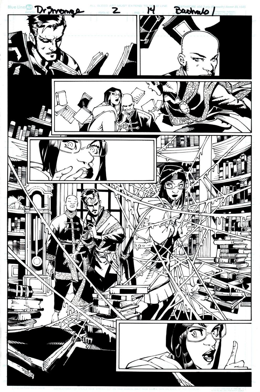 Doctor Strange #2 p 14 (Dr. Strange, Wong, & A LOT Of Books!) 2015
