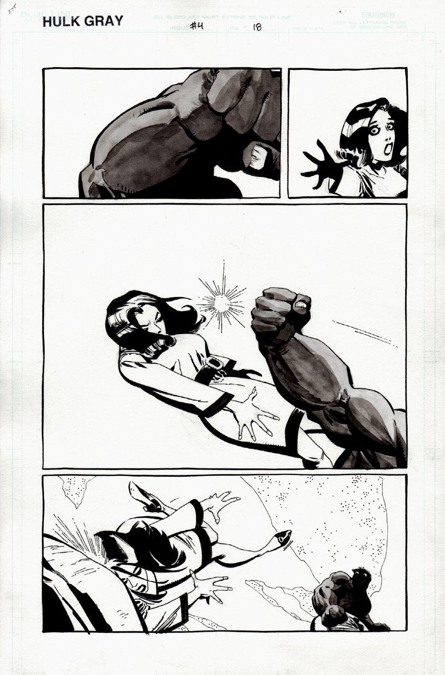 Hulk: Gray #4 p 18 (HULK KNOCKS OUT BETTY ROSS!) 2003