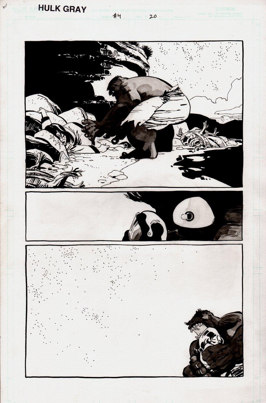 Hulk: Gray #4 p 20  (HULK PUNCHES BETTY AND SCREAMS!) 2003
