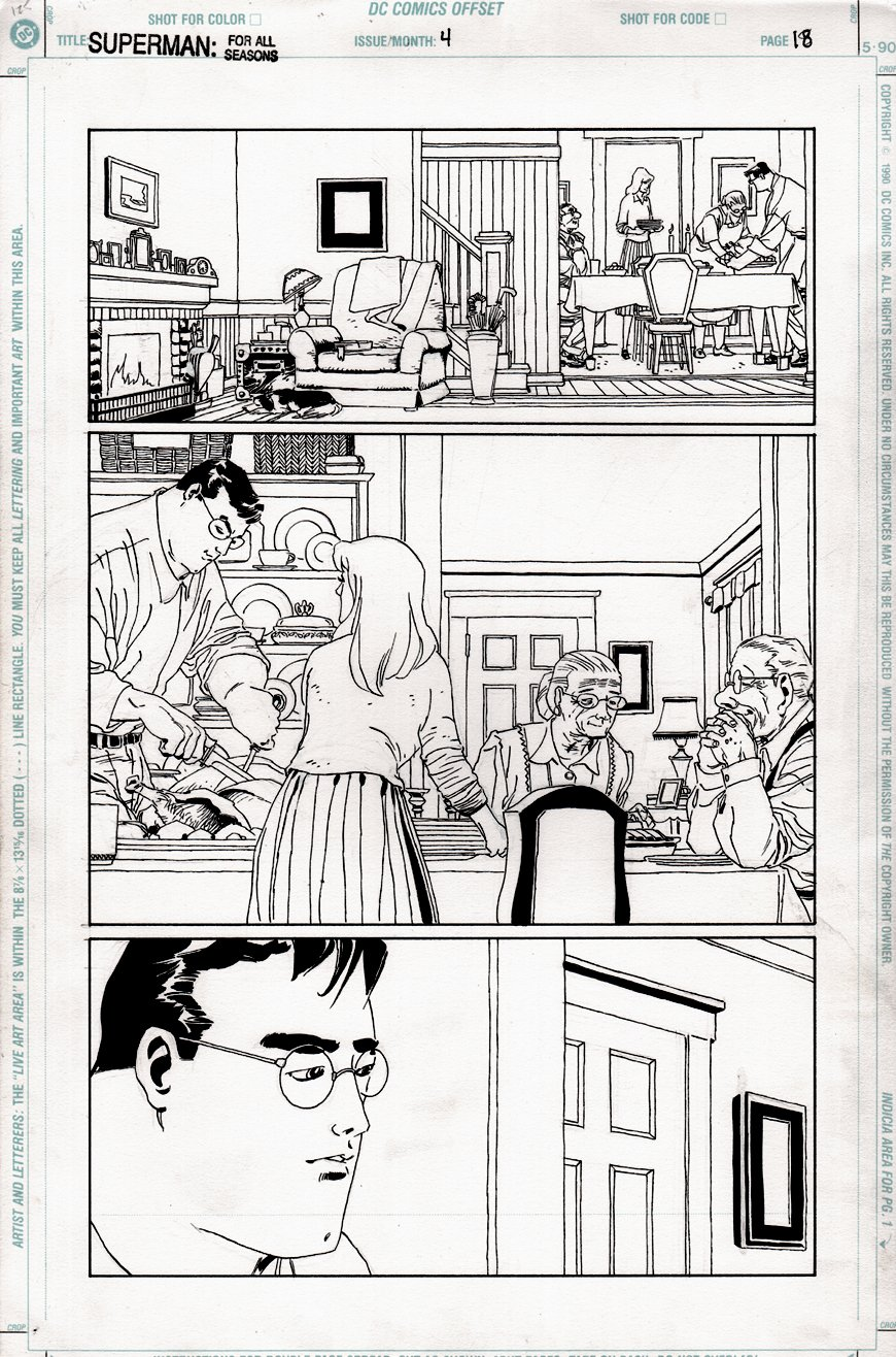 Superman for All Seasons #4 p 18 (THANKSGIVING DINNER AT THE KENTS!) 1998
