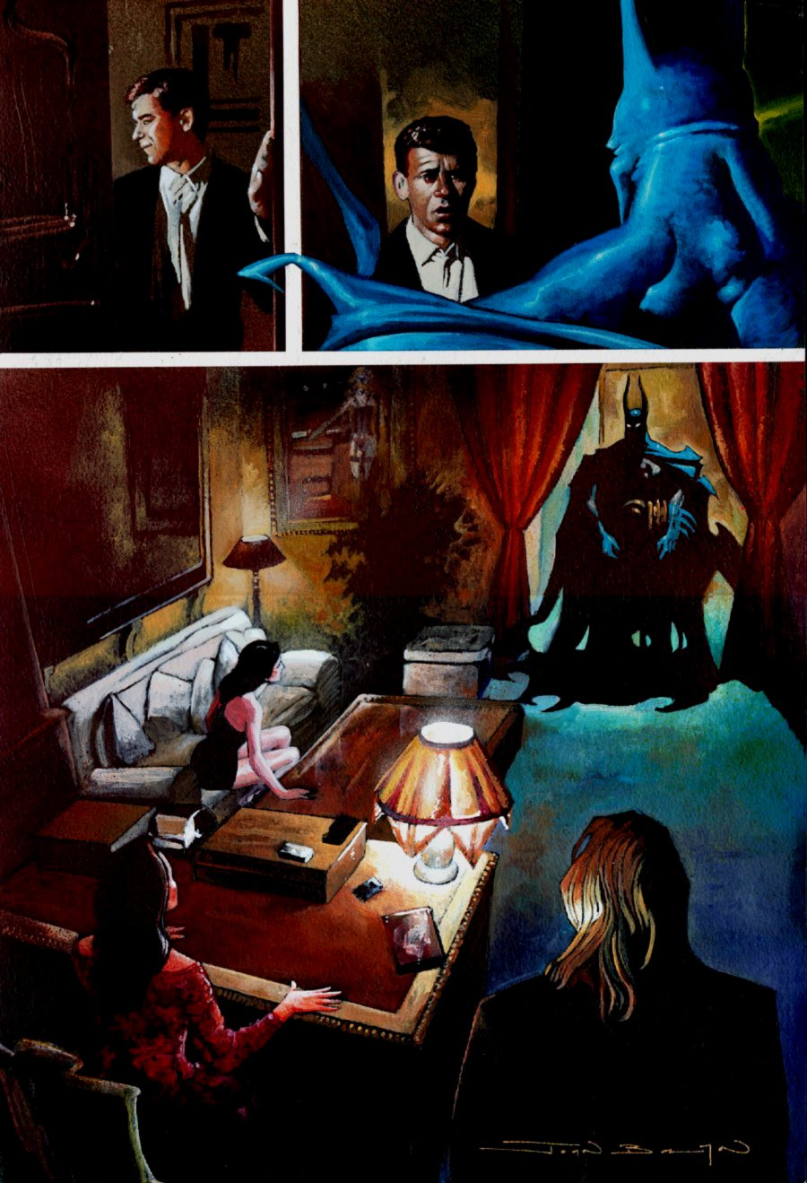 Batman: Manbat #1 p 29 SPLASH Painting (Large Art) 1995