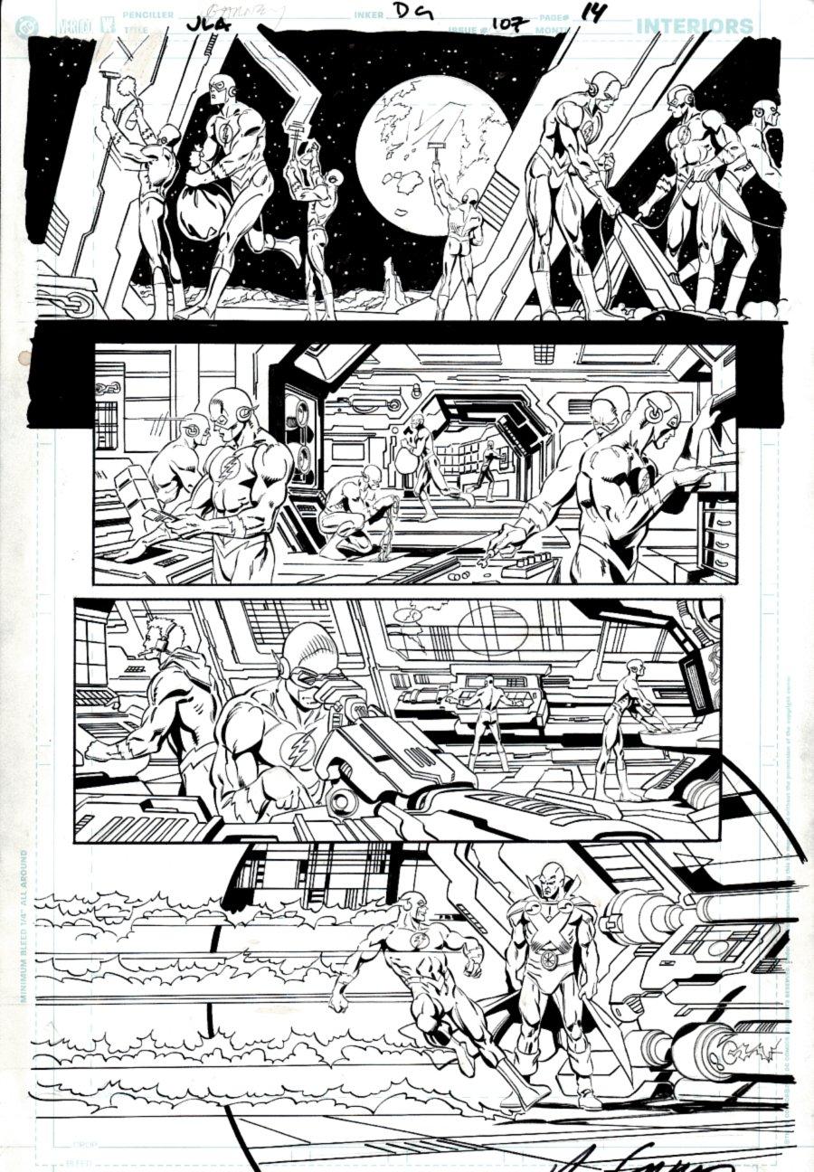 JLA #107 p 14 (19 FLASH IMAGES!) 2004