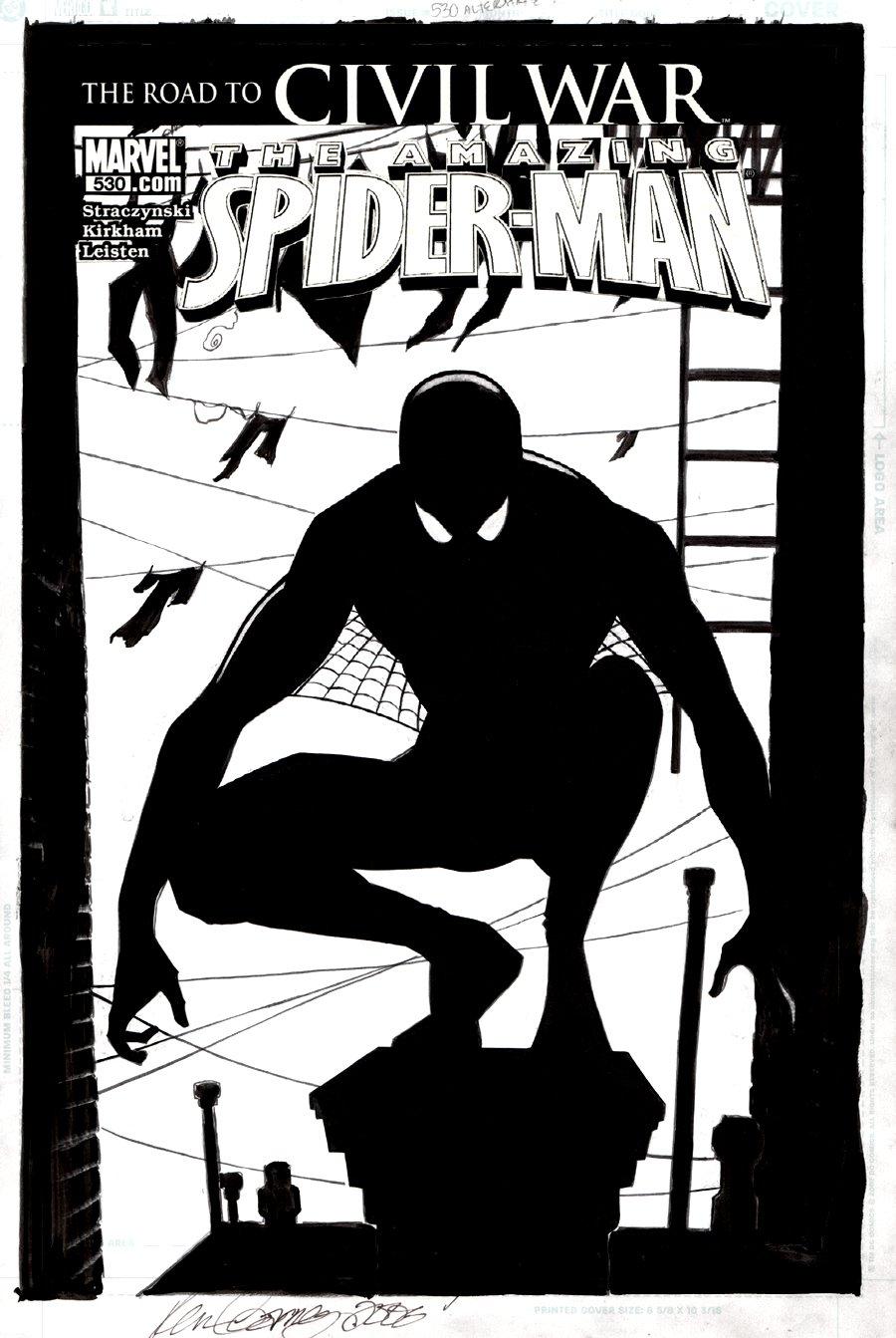 Amazing Spider-Man #530 'Alternate' Civil War Cover (2006)