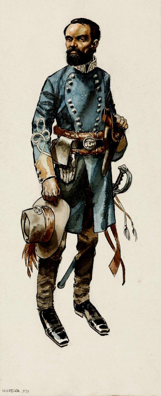 Civil War Gen. Wheeler Large Full-Figure Mixed Media Pinup