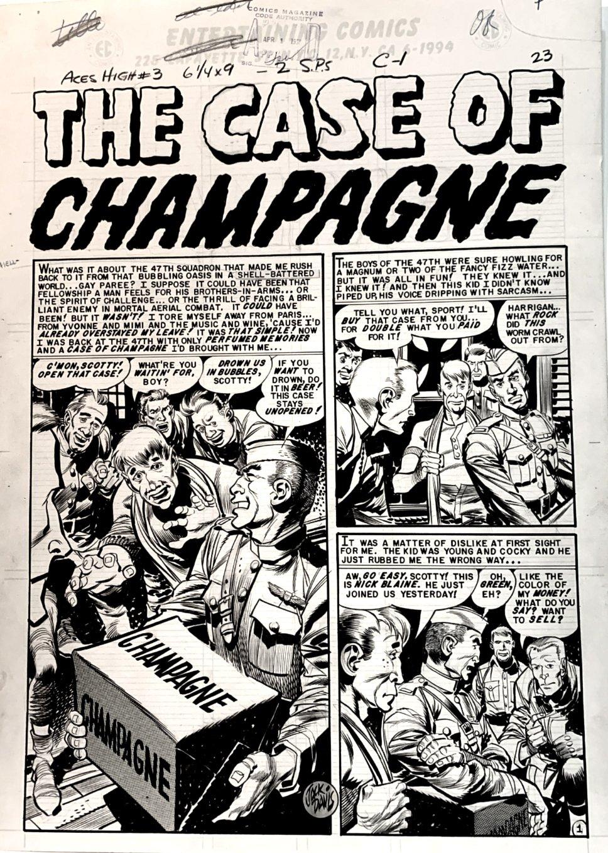 Aces High #3 p 1 SPLASH (Large Art) 1955