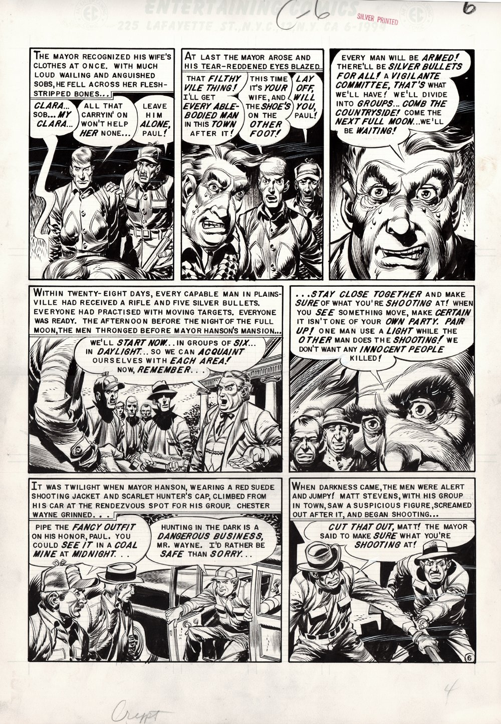 Tales from the Crypt #46 p 6 (Large Art) 1954
