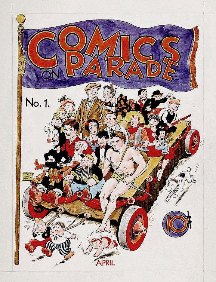Comics on Parade #1 Hand Colored Cover Recreation