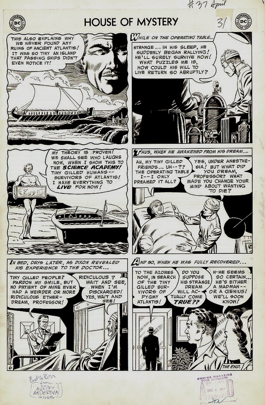 House of Mystery #37 p 6 (Large Art) 1954