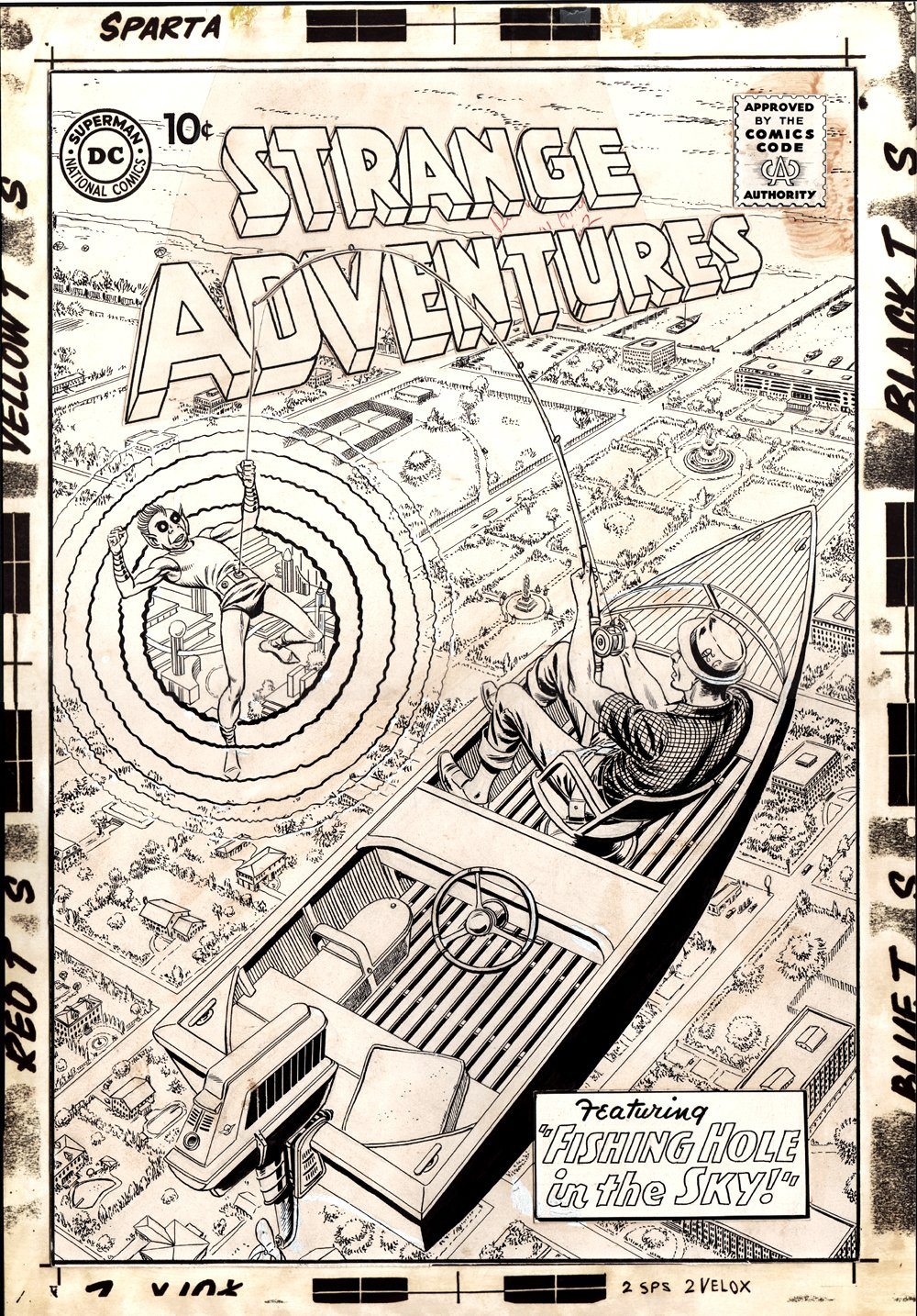Strange Adventures #135 Cover (Large Art) 1961