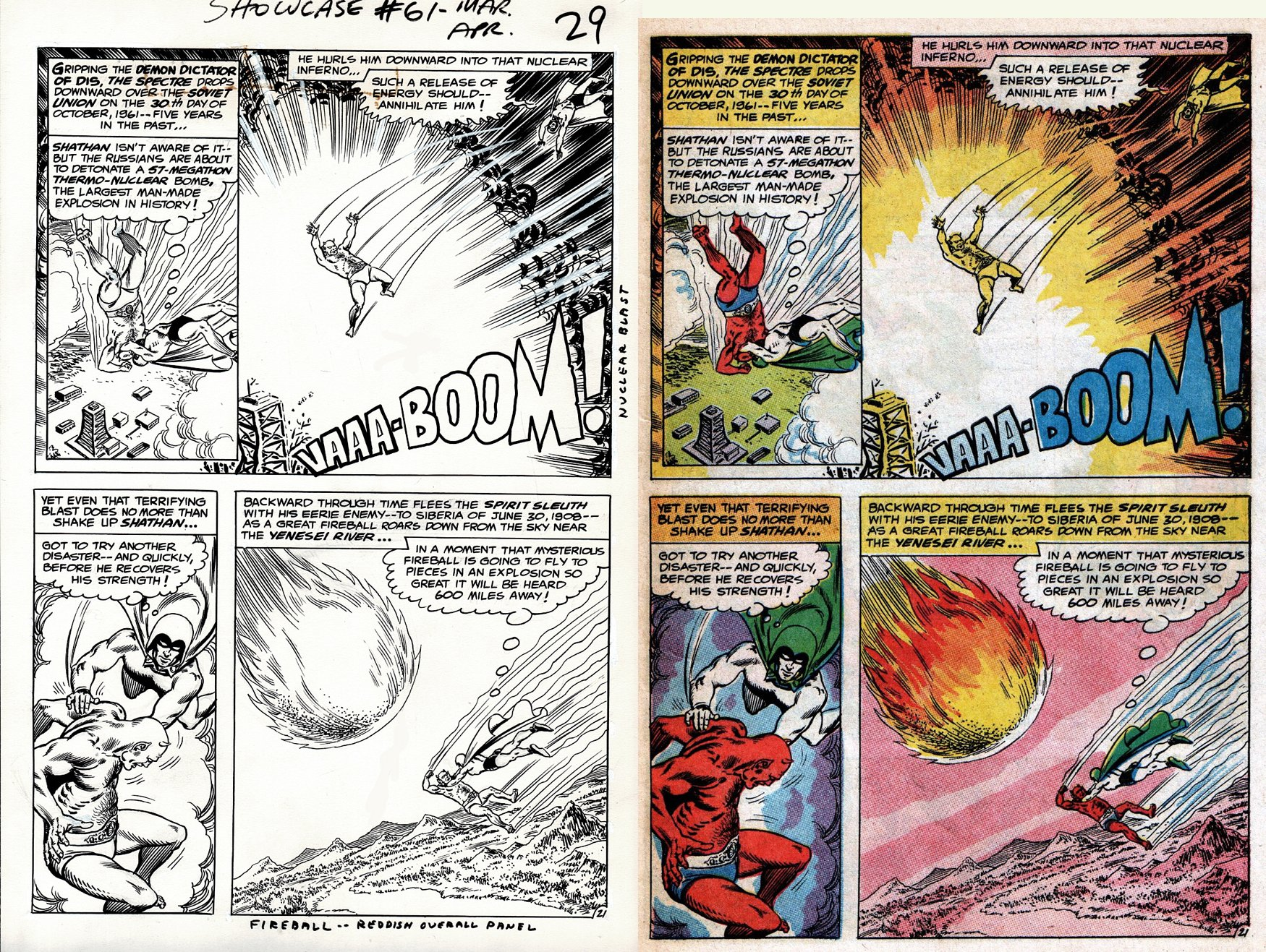 Showcase #61 p 21 (EARLIEST SILVER AGE SOLO SPECTRE BATTLE PG EVER OFFERED FOR PUBLIC SALE!) - 1965