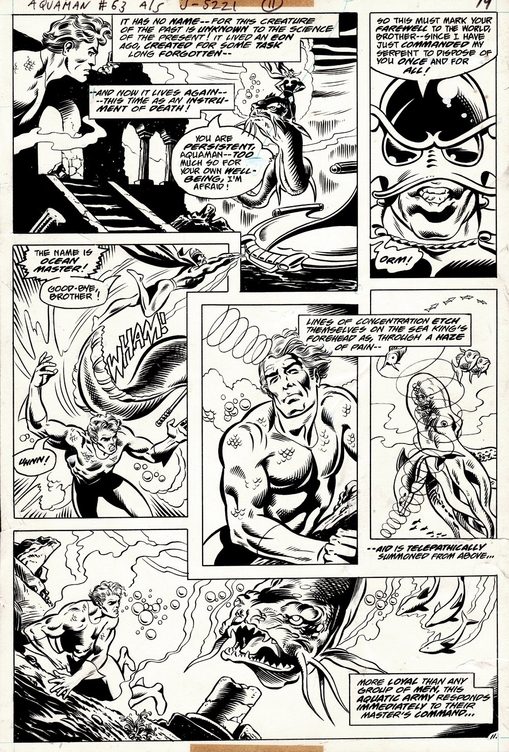 Aquaman #63 p 11 (AQUAMAN BATTLES THE OCEAN MASTER THROUGHOUT!) 1978