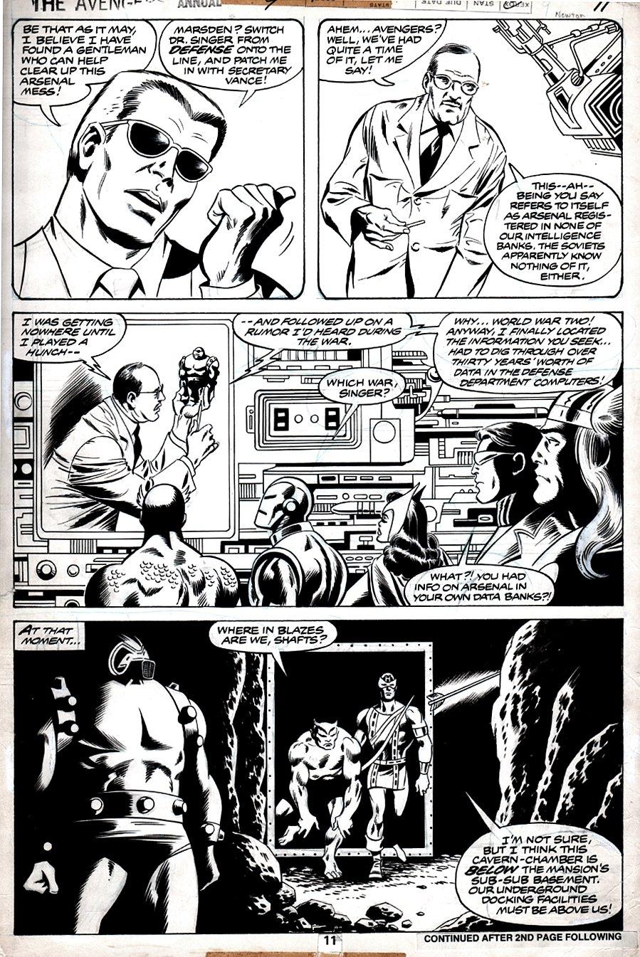 Avengers Annual #9 p 11 ( 7 AVENGERS..& ARSENAL!) 1979