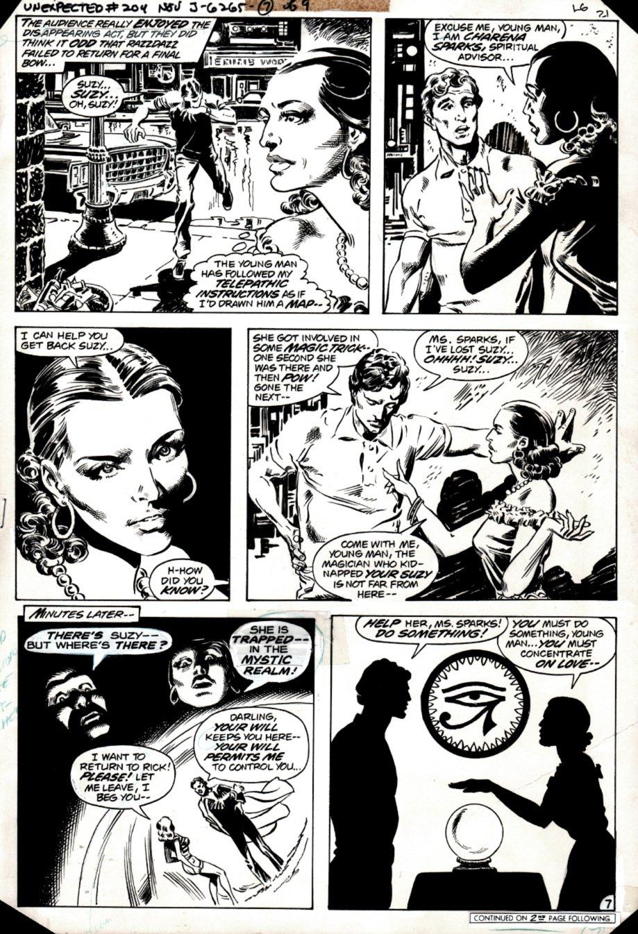 The Unexpected #204 p 7 (STUNNING DON NEWTON ART!) 1980
