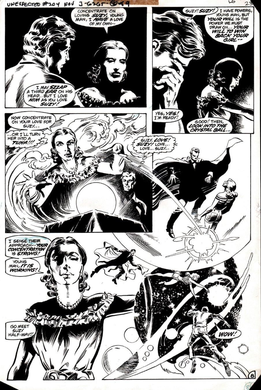 The Unexpected #204 p 8 (STUNNING DON NEWTON ART!) 1980
